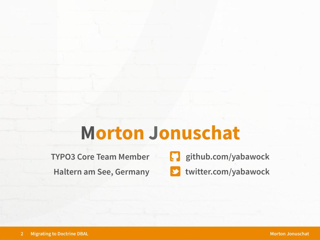 TYPO3 Core Team Member twitter.com/yabawock git...