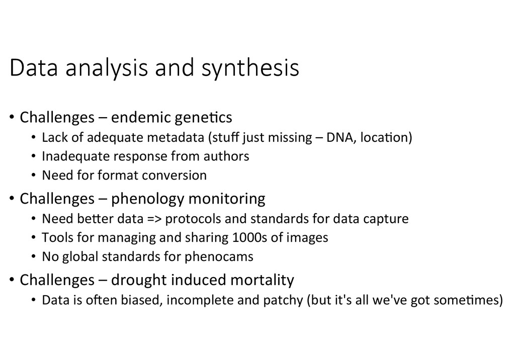 Data  analysis  and  synthesis
