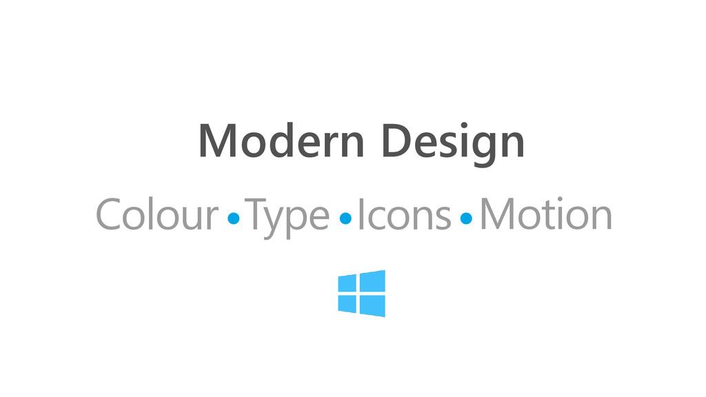 Modern Design Colour Icons Type Motion