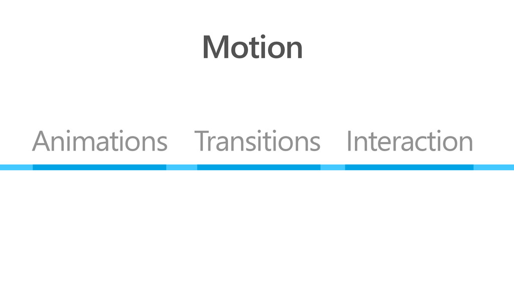 Motion Animations Transitions Interaction