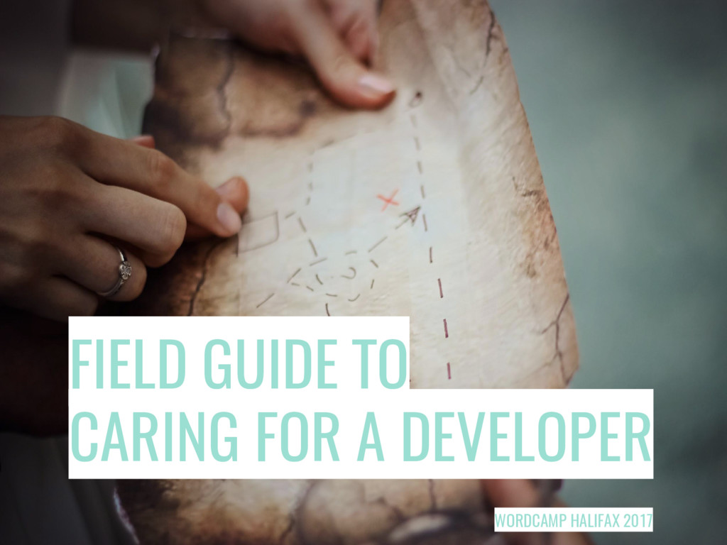 FIELD GUIDE TO CARING FOR A DEVELOPER WORDCAMP ...