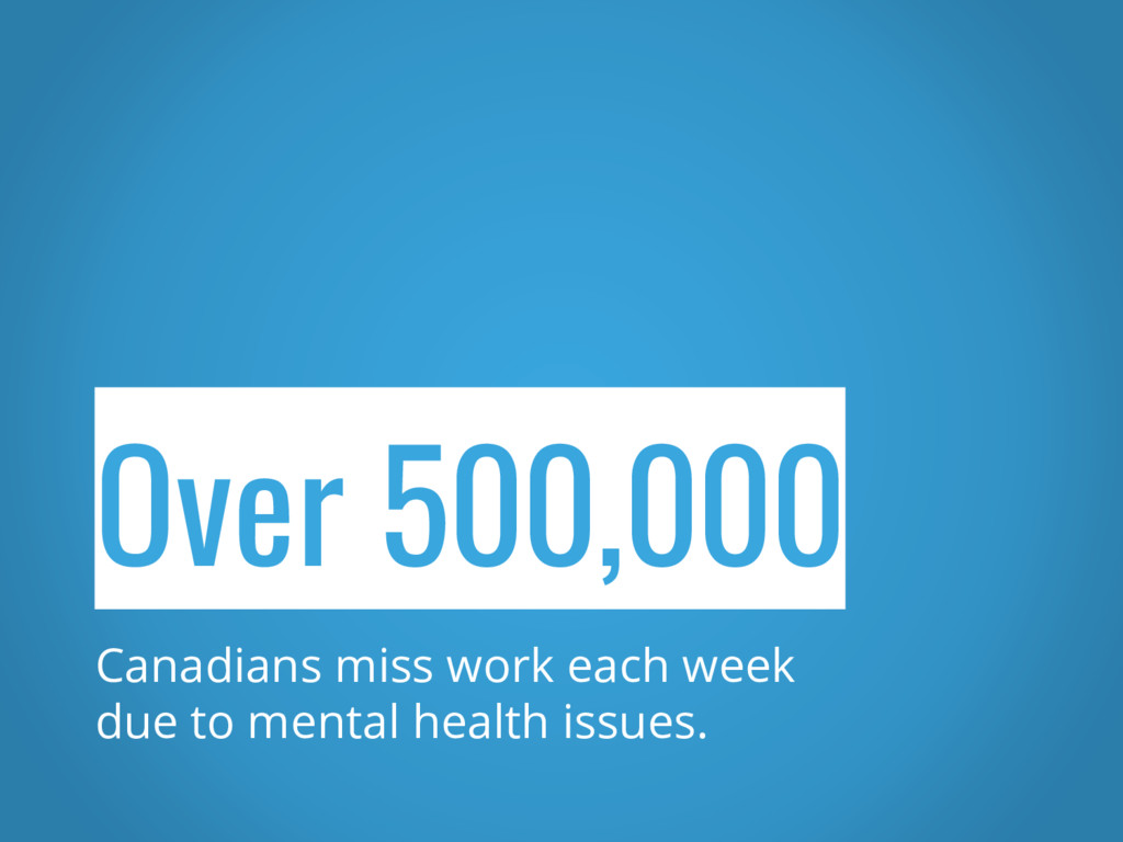 Over 500,000 Canadians miss work each week due ...