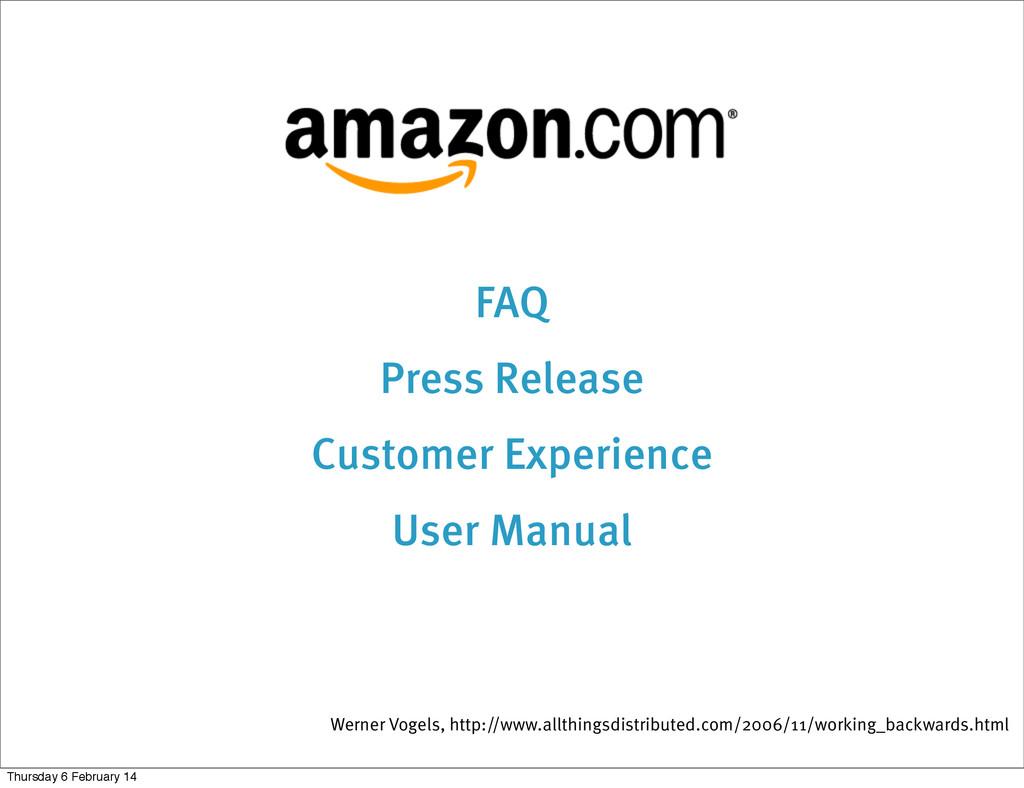 FAQ Press Release Customer Experience User Manu...