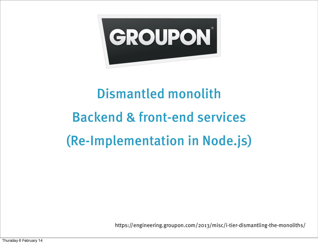 Dismantled monolith Backend & front-end service...