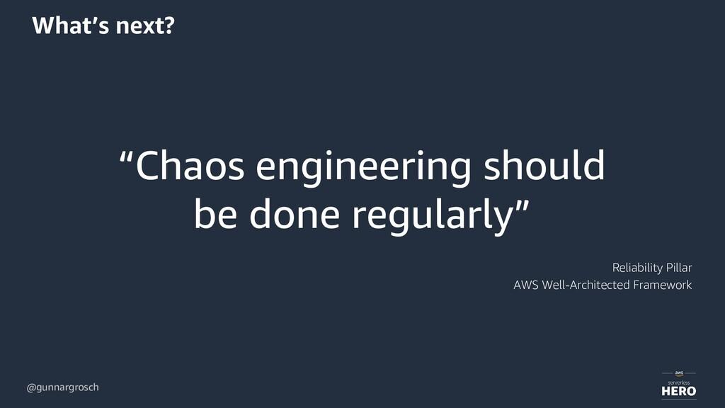 "@gunnargrosch What's next? ""Chaos engineering s..."