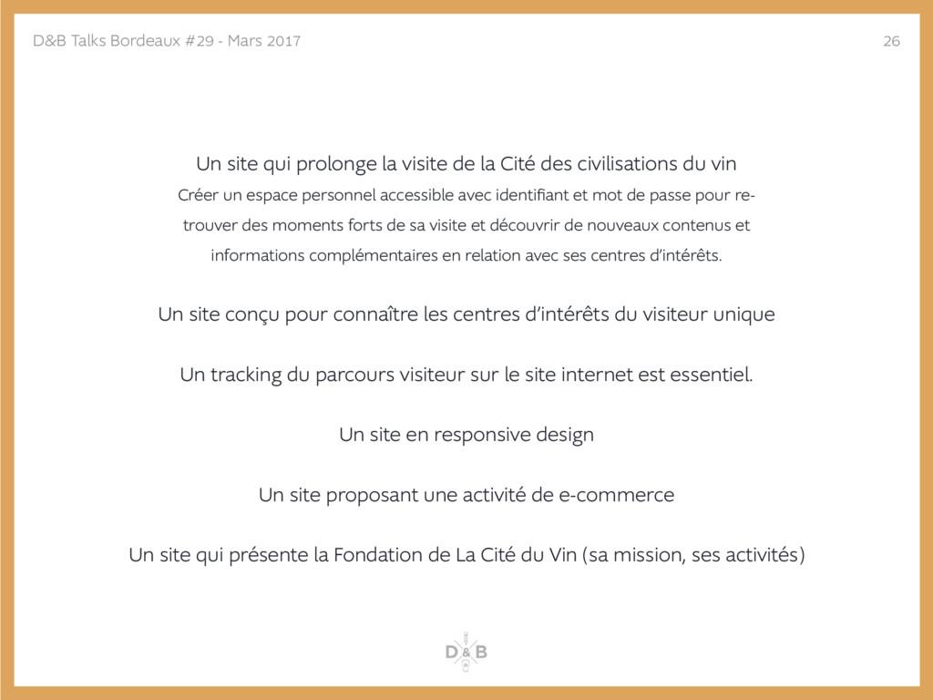Un site qui prolonge la visite de la Cité des c...