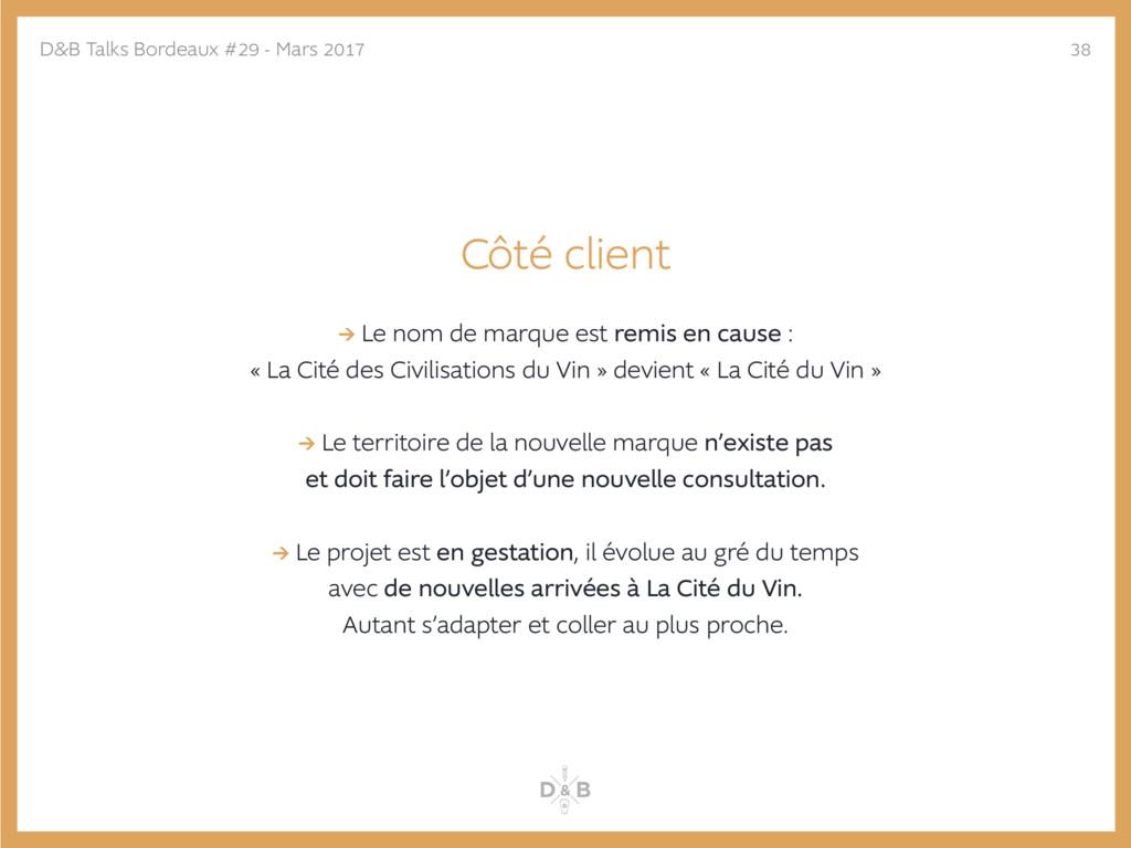 Côté client → Le nom de marque est remis en cau...