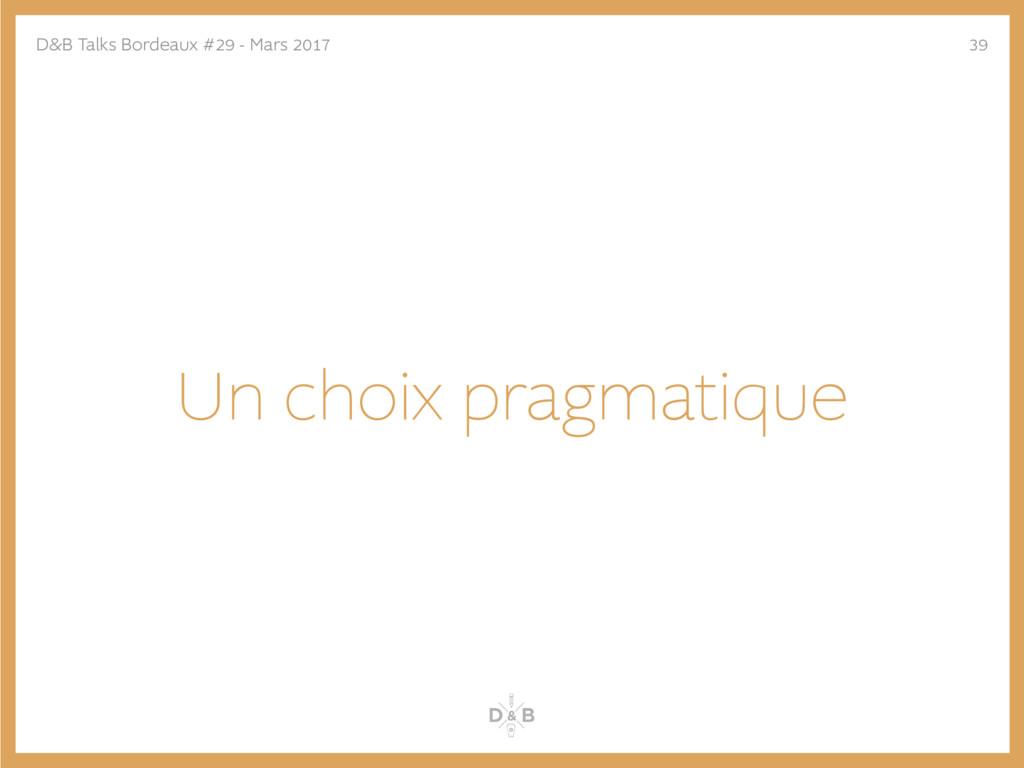 Un choix pragmatique D&B Talks Bordeaux #29 - M...