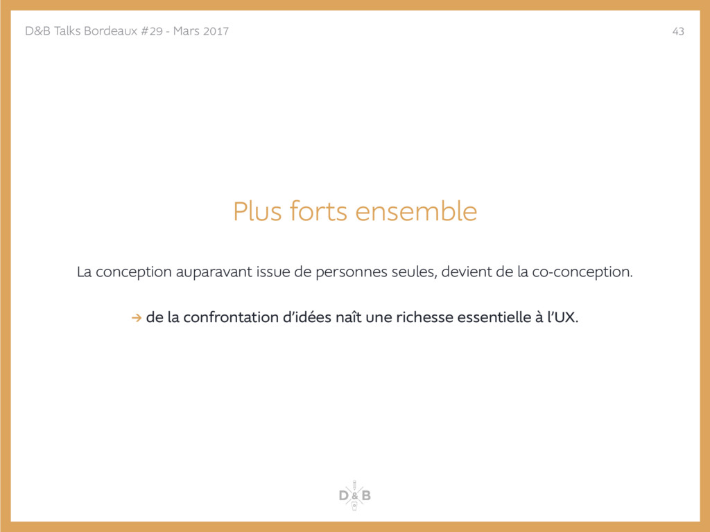 Plus forts ensemble La conception auparavant is...