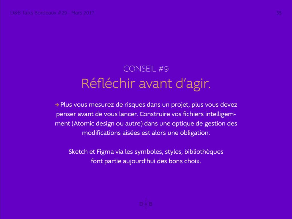 CONSEIL #9 Réfléchir avant d'agir. → Plus vous ...