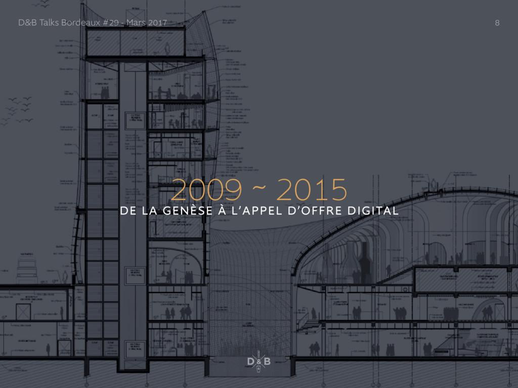 2009 ~ 2015 DE LA GENÈSE À L'APPEL D'OFFRE DIGI...