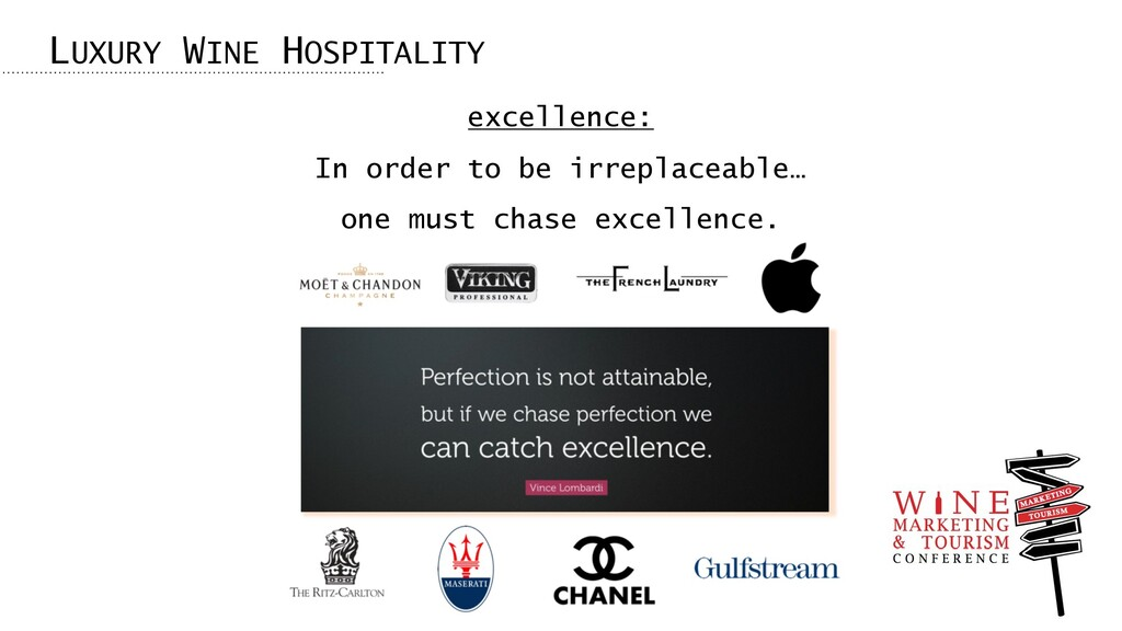 LUXURY WINE HOSPITALITY excellence: In order to...