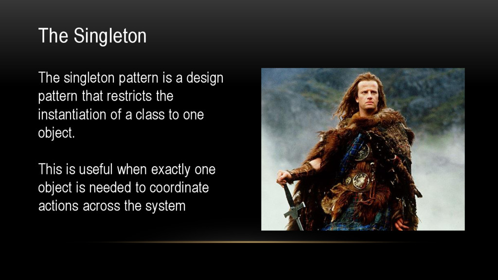 The singleton pattern is a design pattern that ...