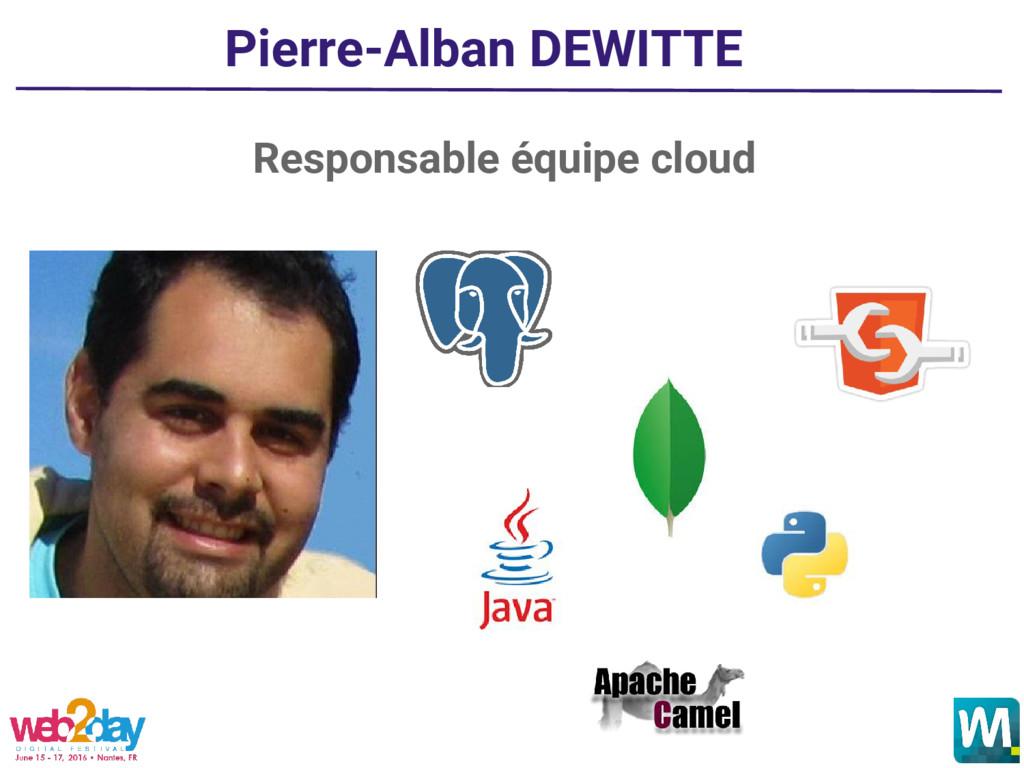 Pierre-Alban DEWITTE Responsable équipe cloud