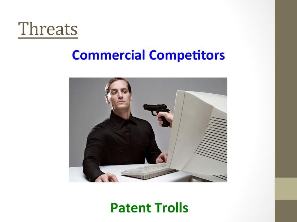 Threats  Commercial Compe'tors  Patent...