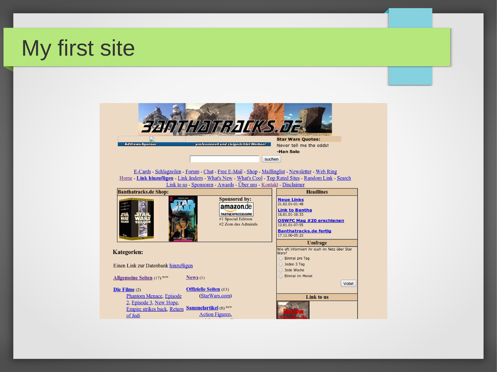 My first site