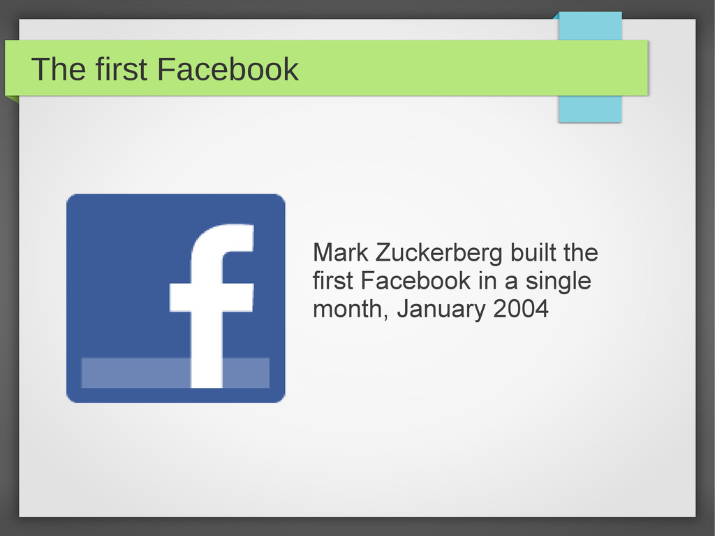 The first Facebook Mark Zuckerberg built the fi...