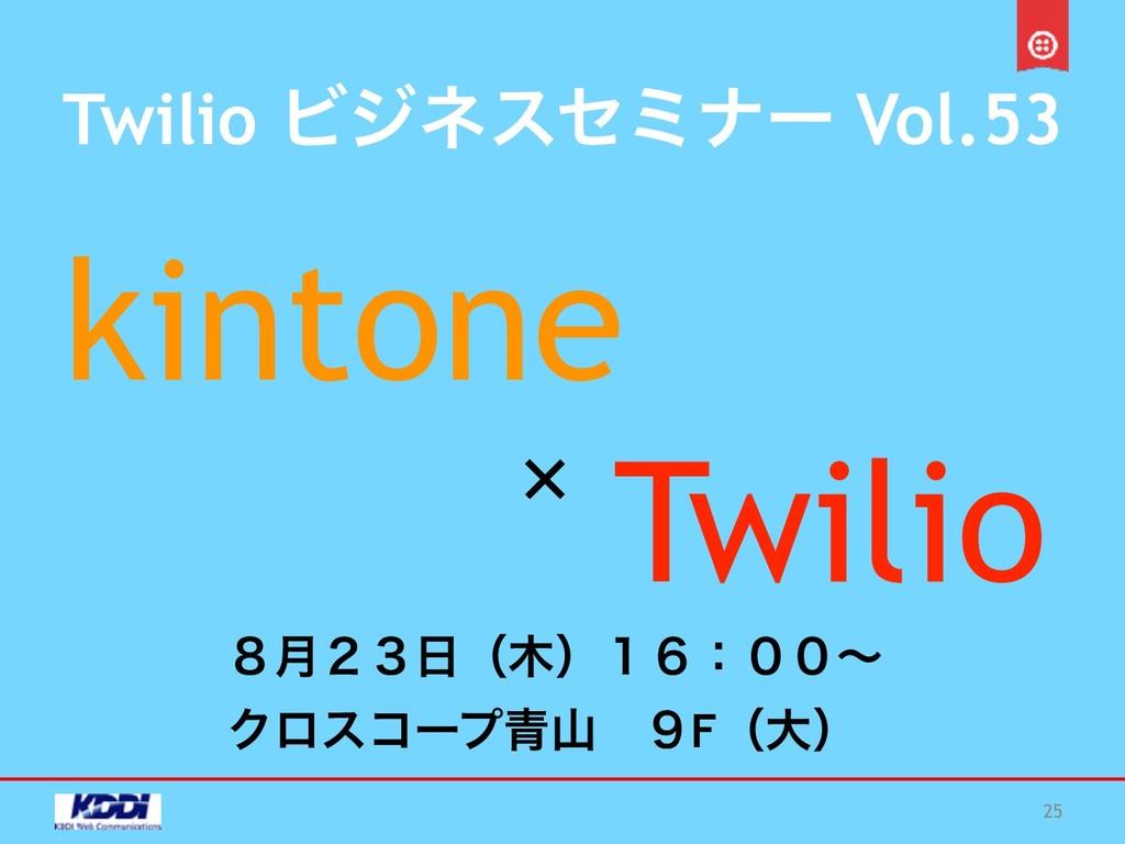 Twilio Ϗδωεηϛφʔ Vol.53 kintone Twilio 25 × ݄̔̎̏...