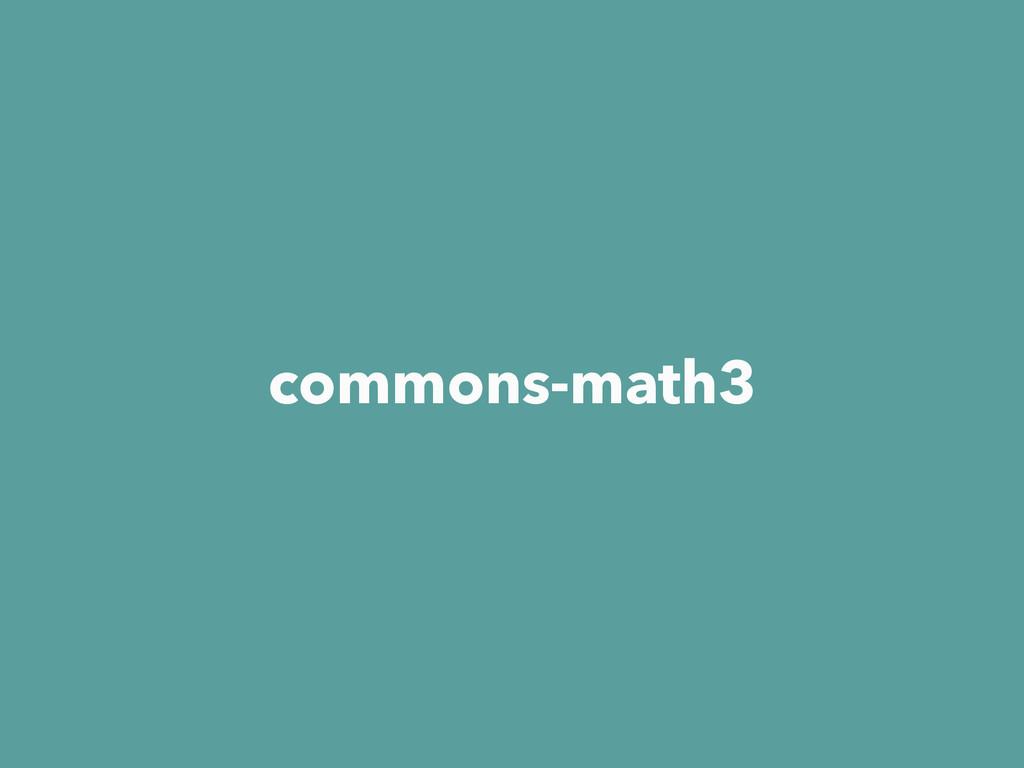 commons-math3