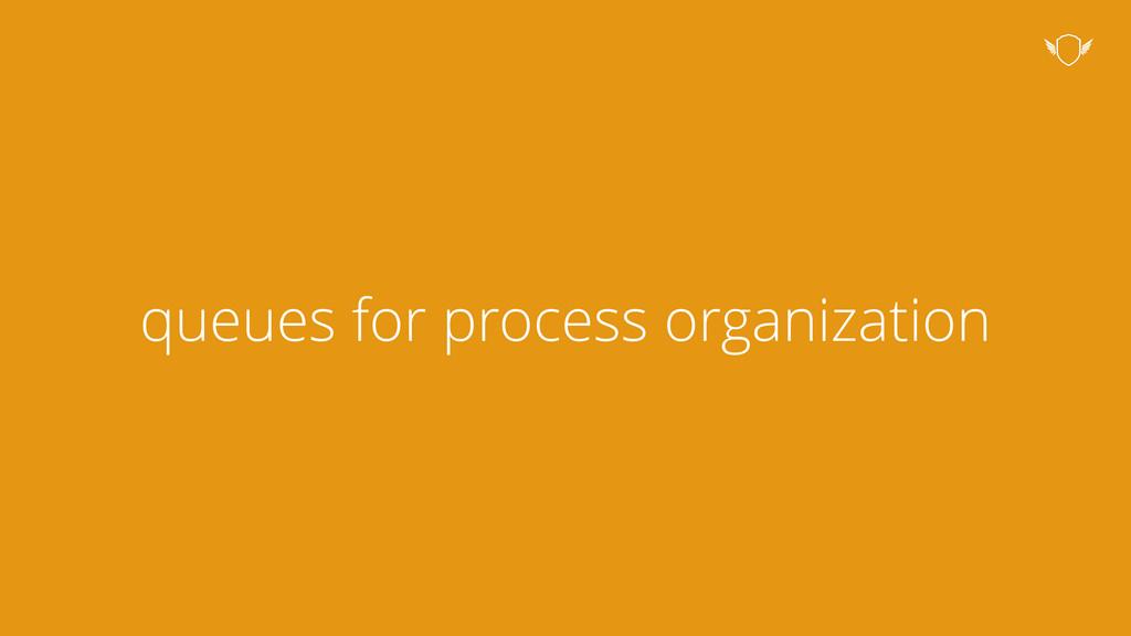 queues for process organization