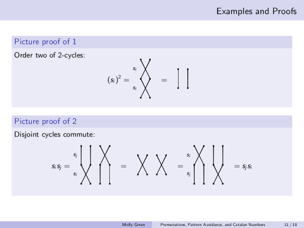 Examples and Proofs Picture proof of 1 Order tw...
