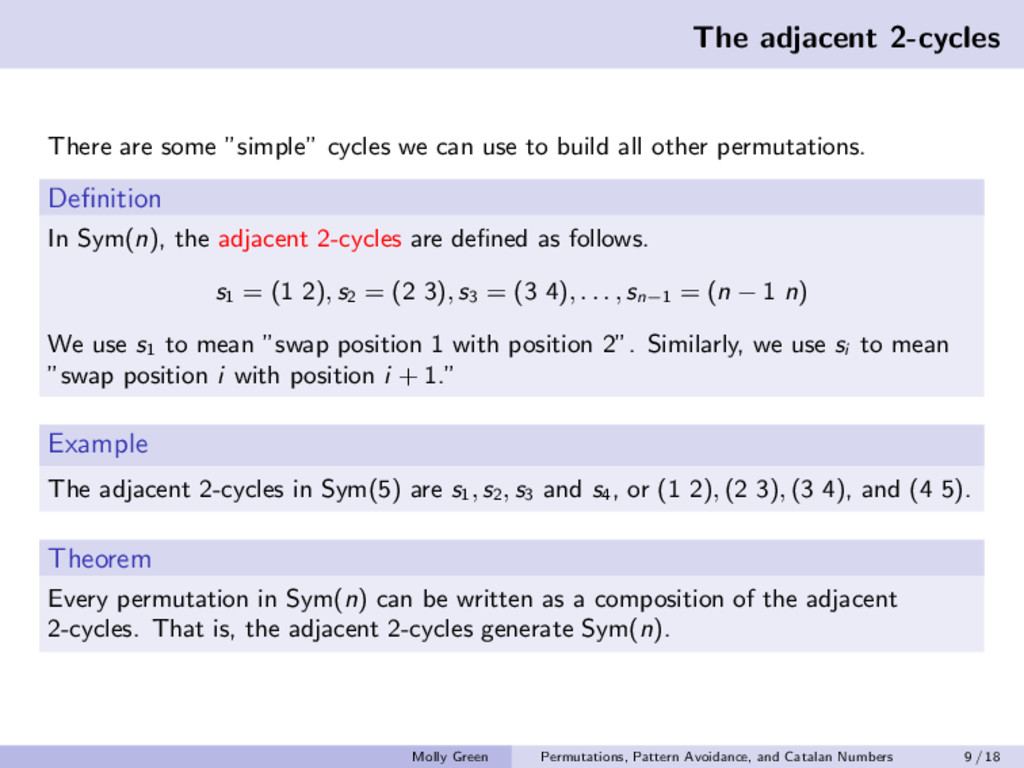 "The adjacent 2-cycles There are some ""simple"" c..."