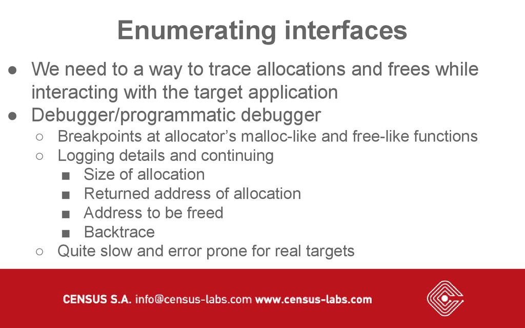 Enumerating interfaces ● We need to a way to tr...