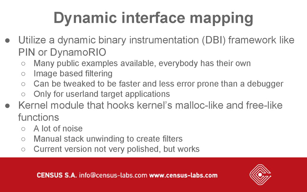 Dynamic interface mapping ● Utilize a dynamic b...