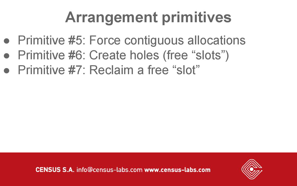 Arrangement primitives ● Primitive #5: Force co...