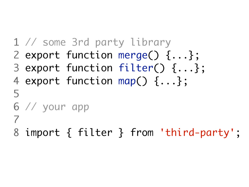 1 // some 3rd party library 2 export function m...