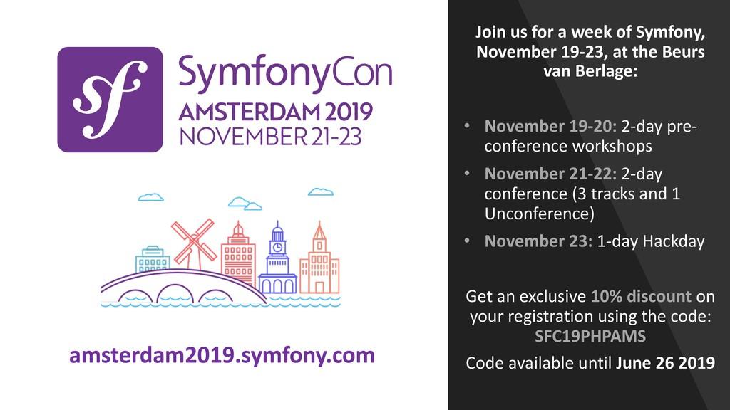 Join us for a week of Symfony, November 19-23, ...