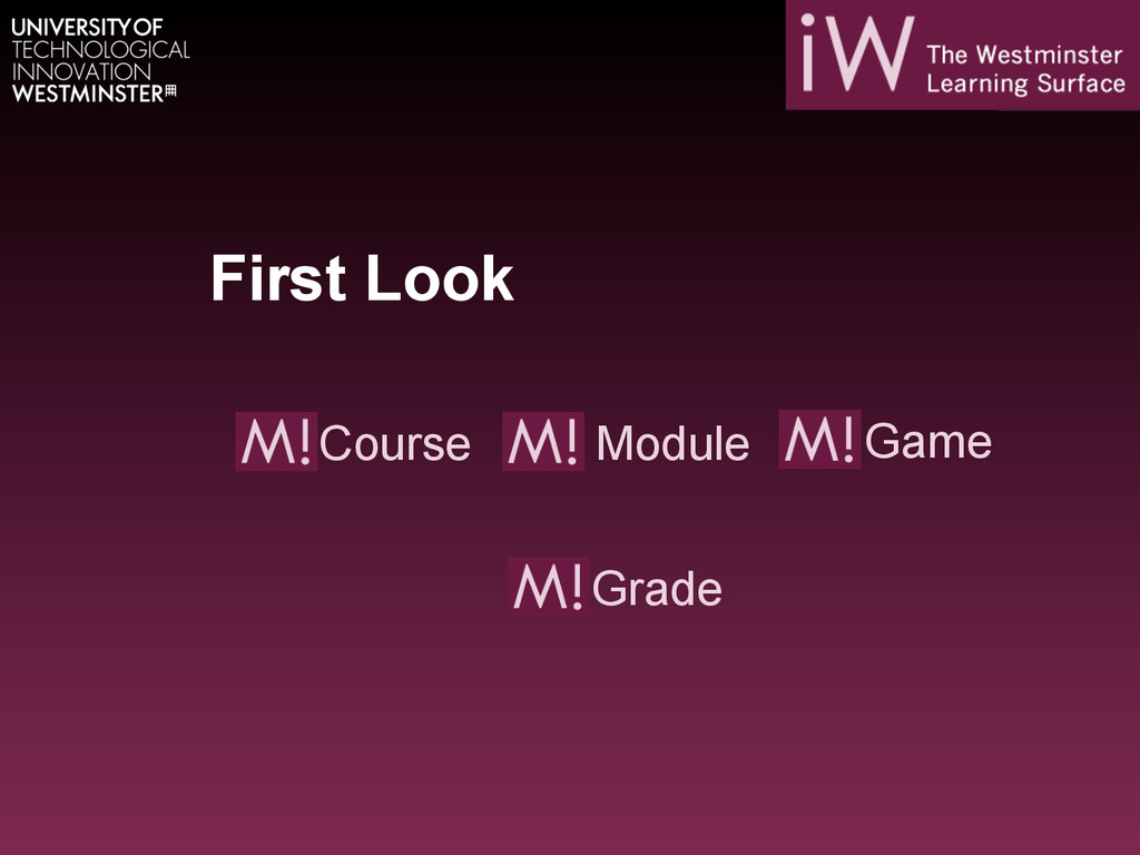First Look Module Course Game Grade