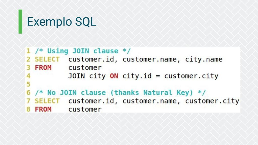 Exemplo SQL