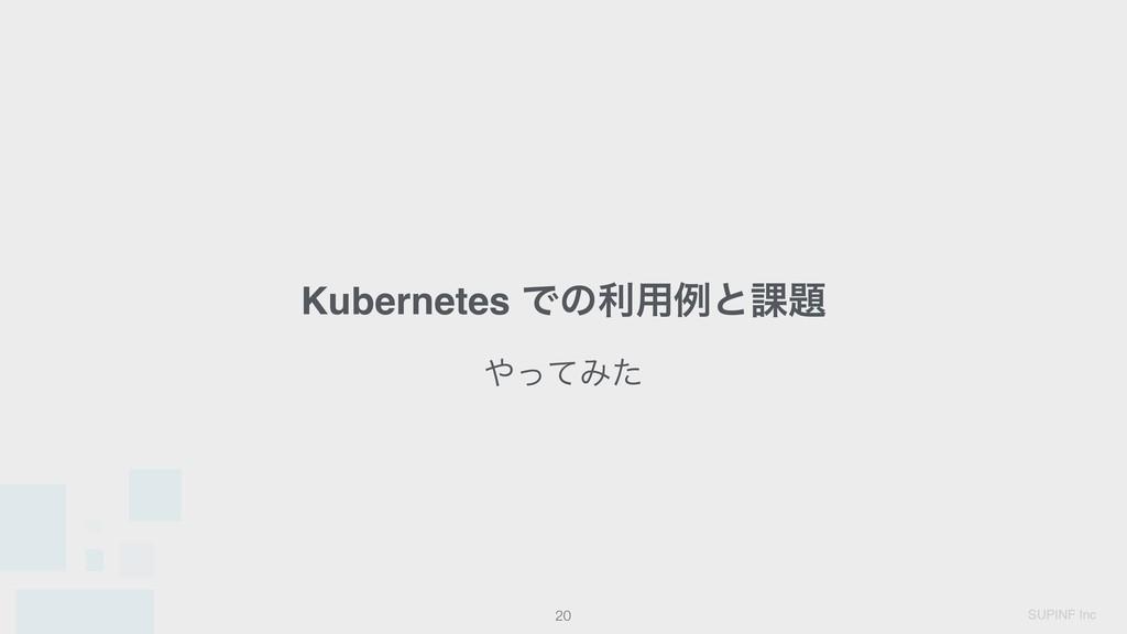 SUPINF Inc Kubernetes Ͱͷར༻ྫͱ՝ !20 ͬͯΈͨ