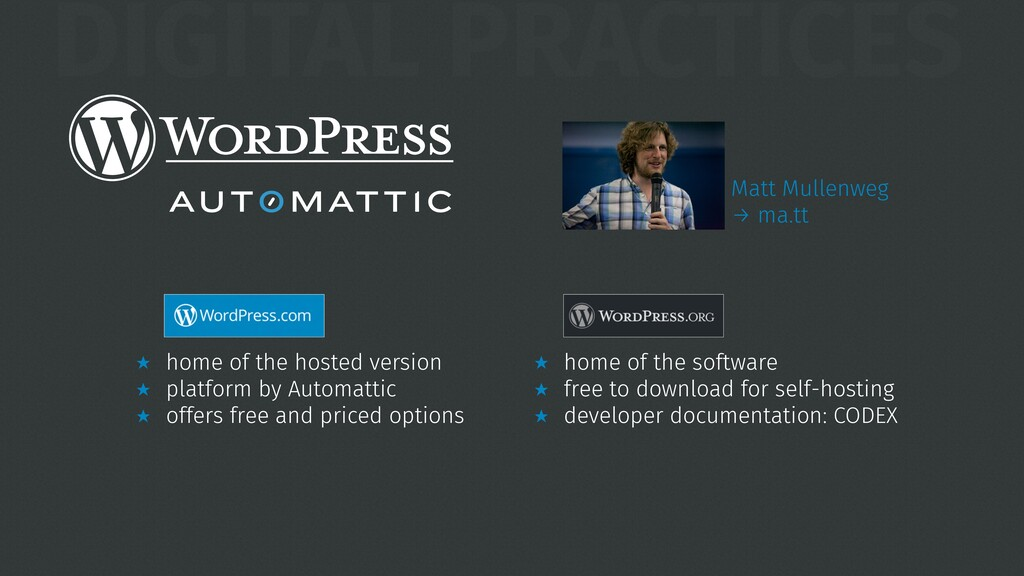 DIGITAL PRACTICES ★ home of the hosted version ...