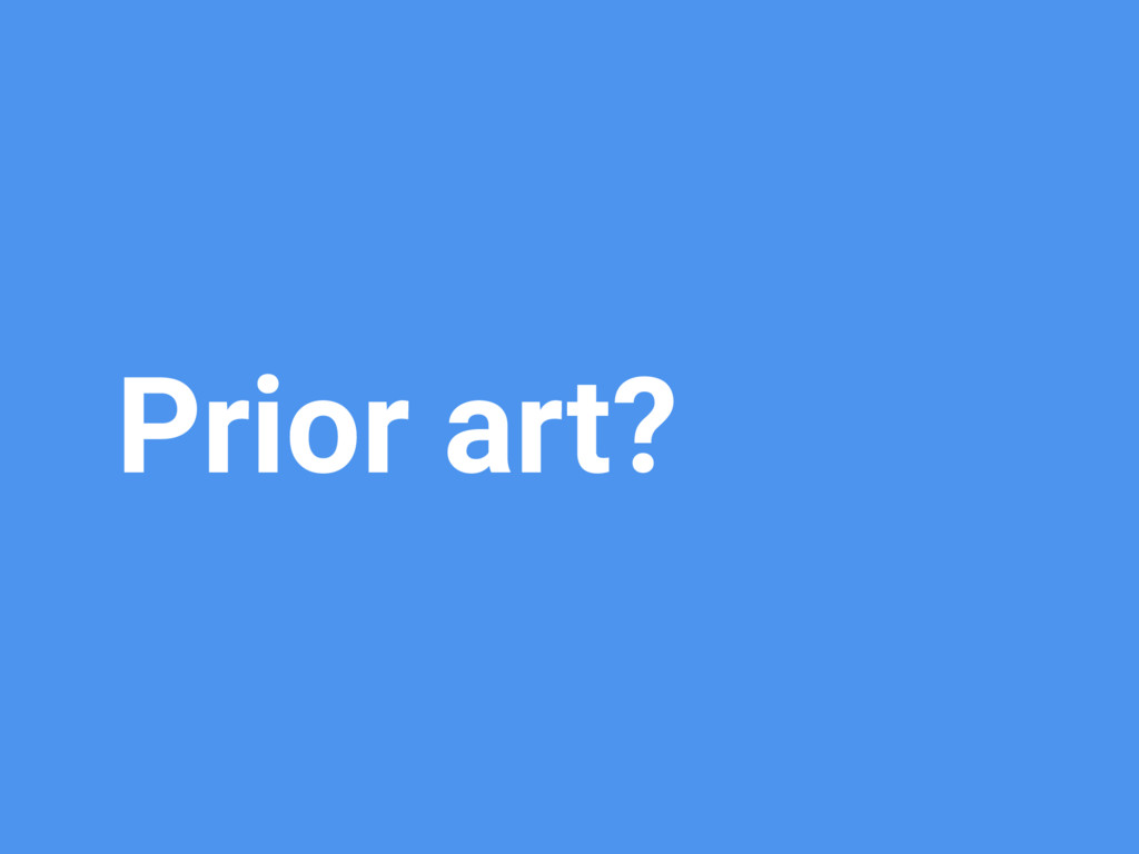 Prior art?