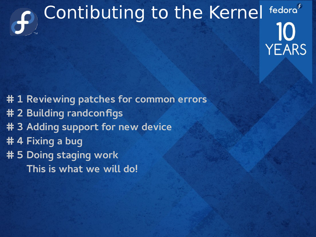Contibuting to the Kernel # 1 Reviewing patches...