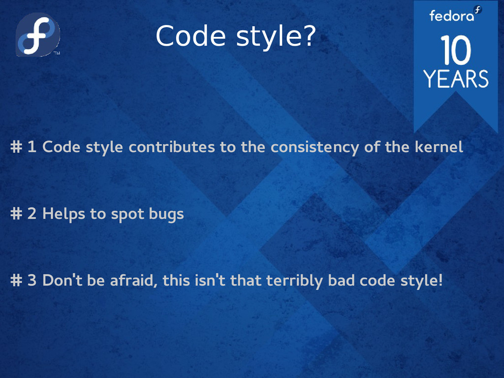 Code style? # 1 Code style contributes to the c...