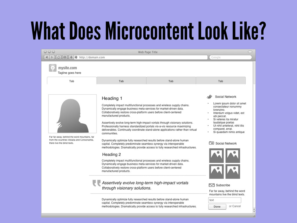 What Does Microcontent Look Like?