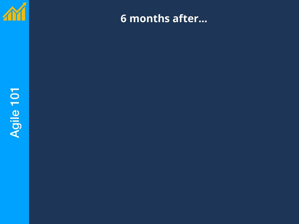 Agile 101 6 months after…