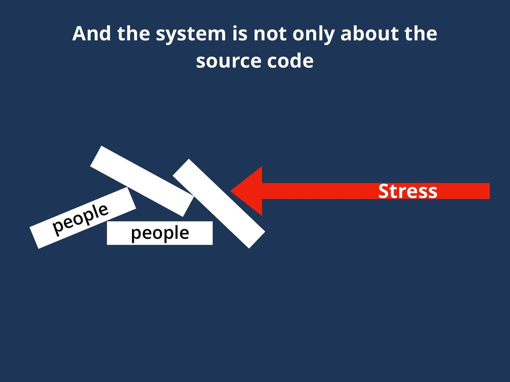 And the system is not only about the source cod...