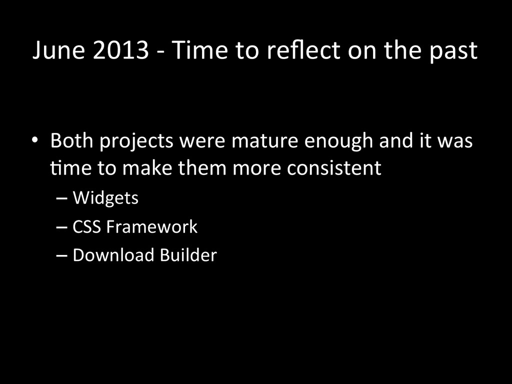 June 2013 -‐ Time to reflect ...