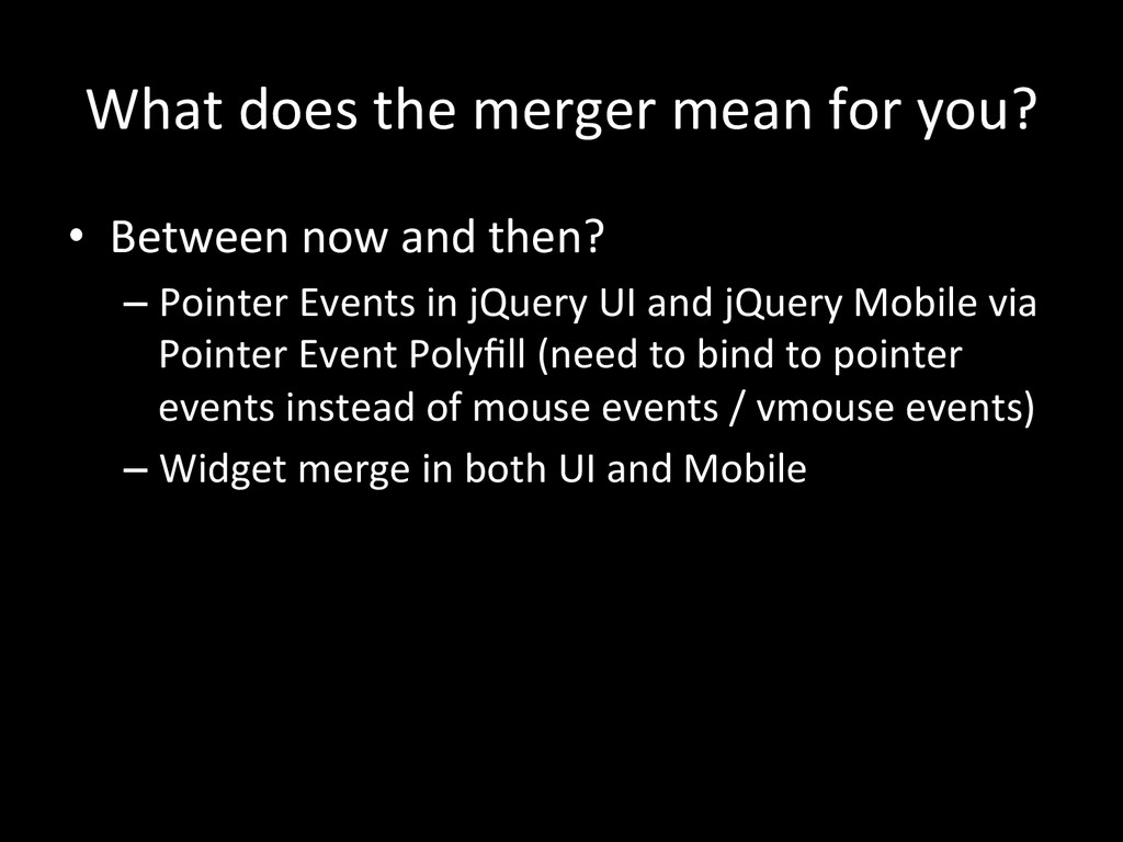 What does the merger mean for ...