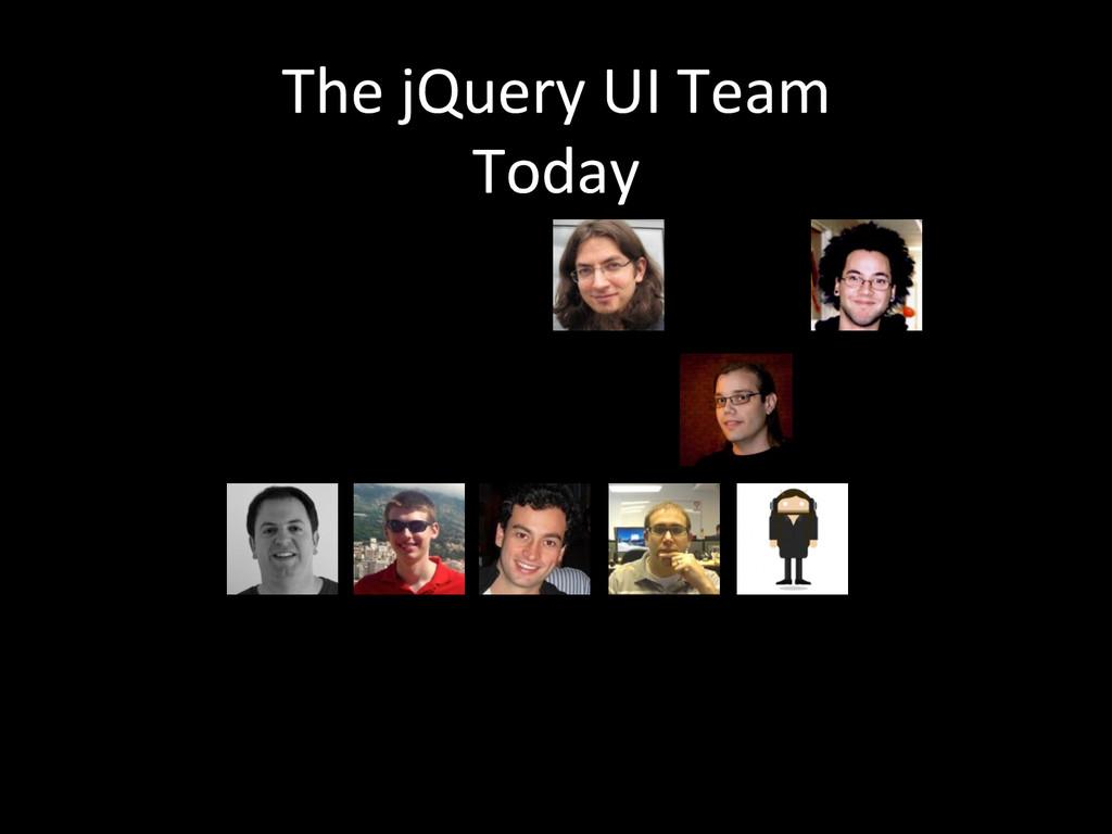 The jQuery UI Team  Today