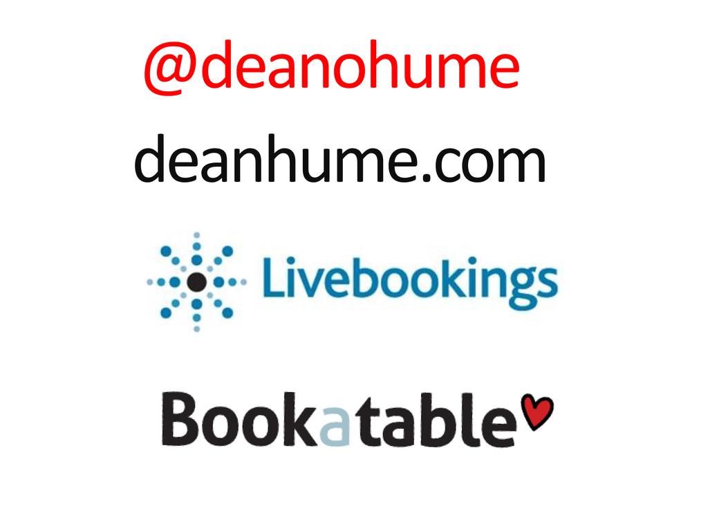 @deanohume deanhume.com