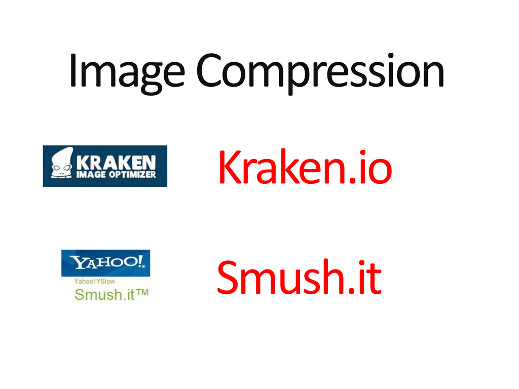 Image Compression Kraken.io Smush.it