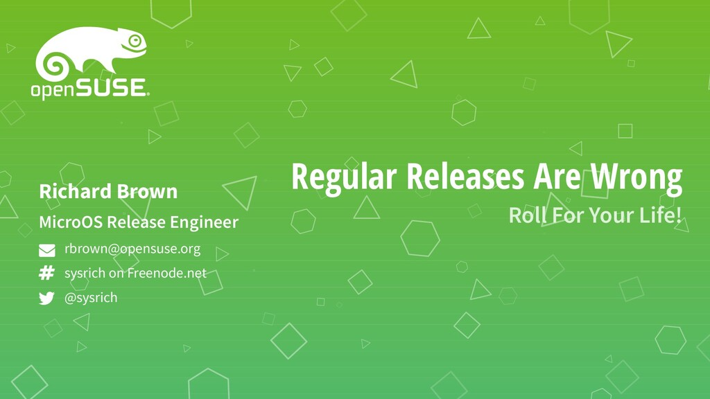 Regular Releases Are Wrong Roll For Your Life! ...