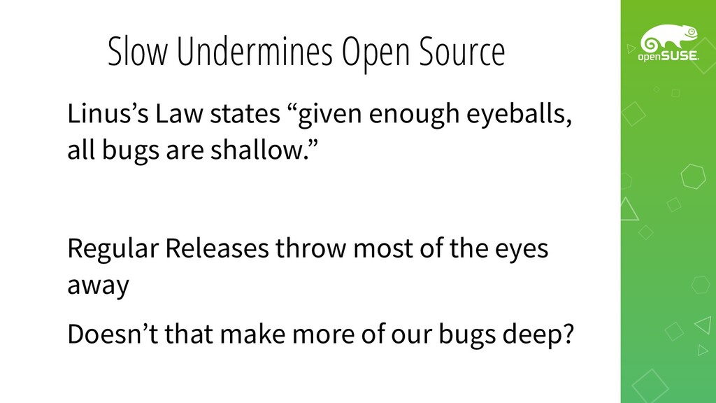 Slow Undermines Open Source Linus's Law states ...