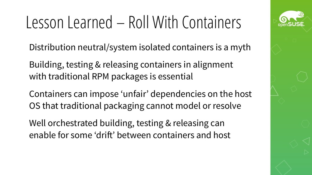 Lesson Learned – Roll With Containers Distribut...