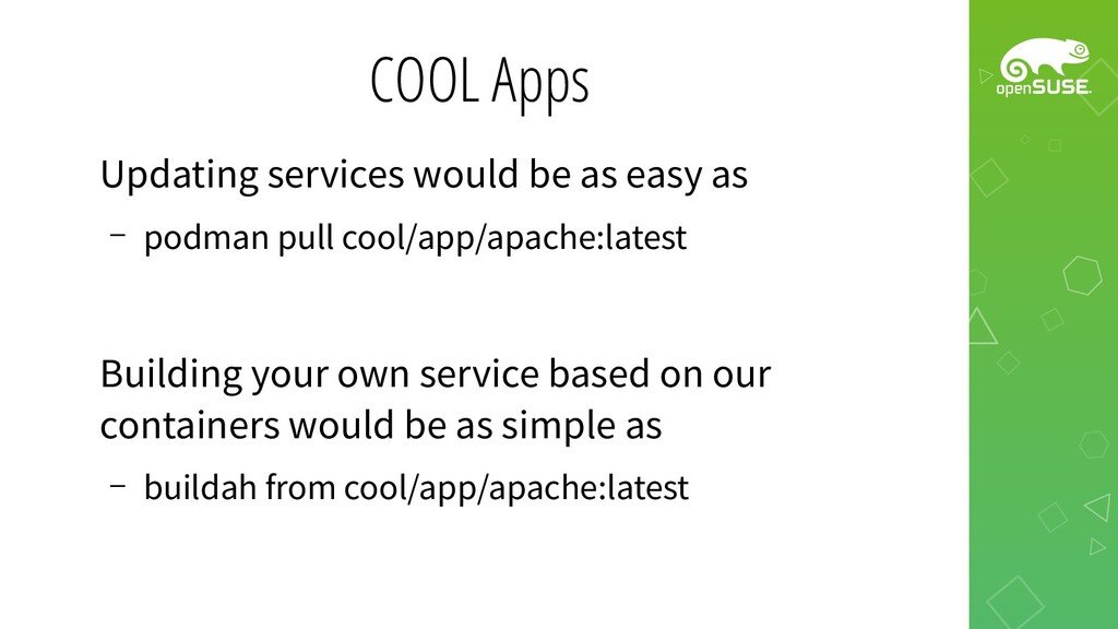 COOL Apps Updating services would be as easy as...